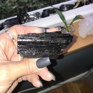 X-Large Black Tourmaline W/ chunks of Quartz #3
